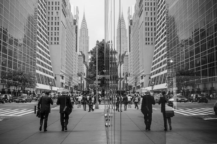 42nd street reflection, NYC