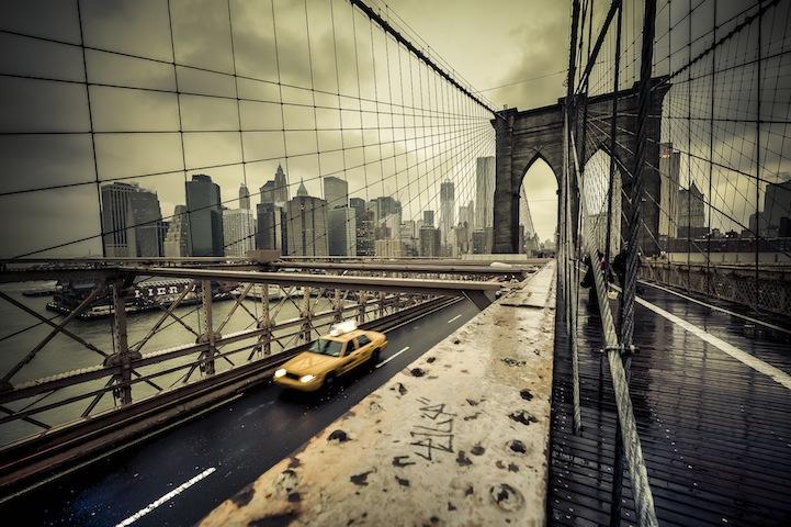 Brooklyn Bridge after the storm, New York