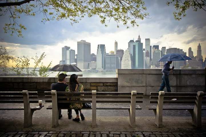 Umbrellas with a view, New York