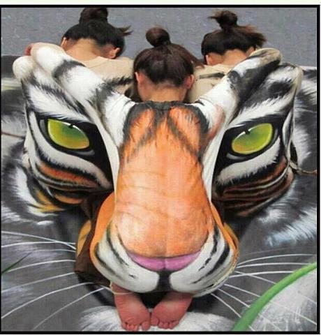 best-body-painting-work-tiger