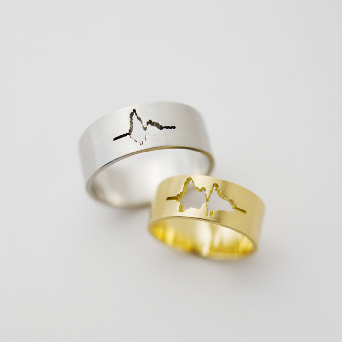 Wedding Rings Feature The Waveform Of Couple S Voices Saying I Do