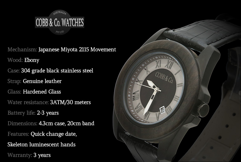 black-ebony-wood-watch-features-overview