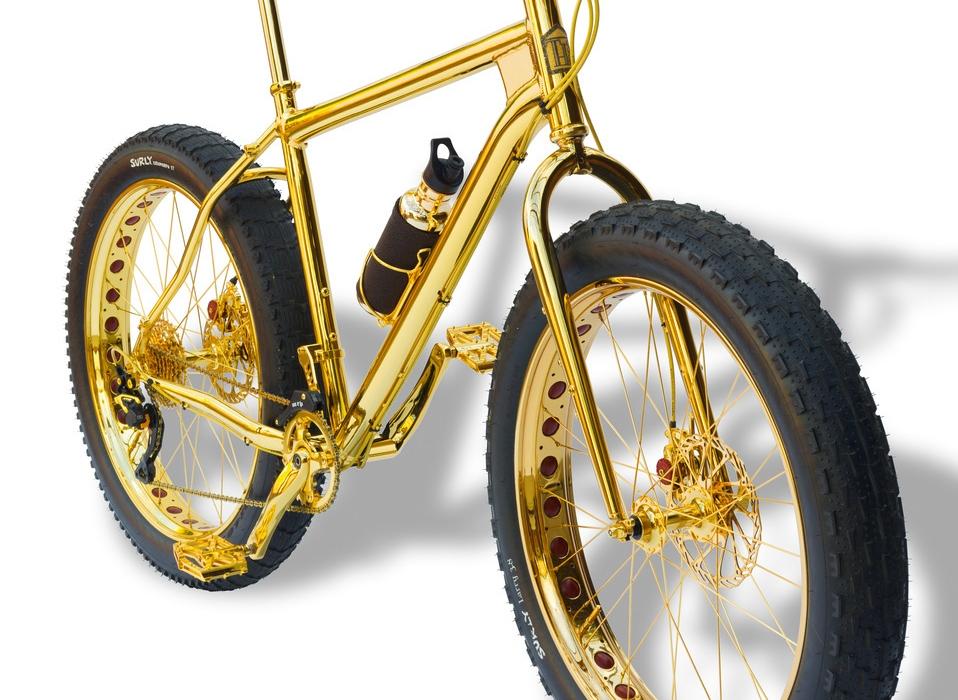 привлек золотой велосипед фото разные